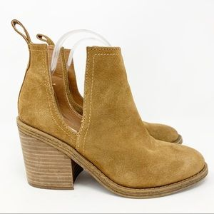 Steve Madden Sharini Chestnut Suede Ankle Booties